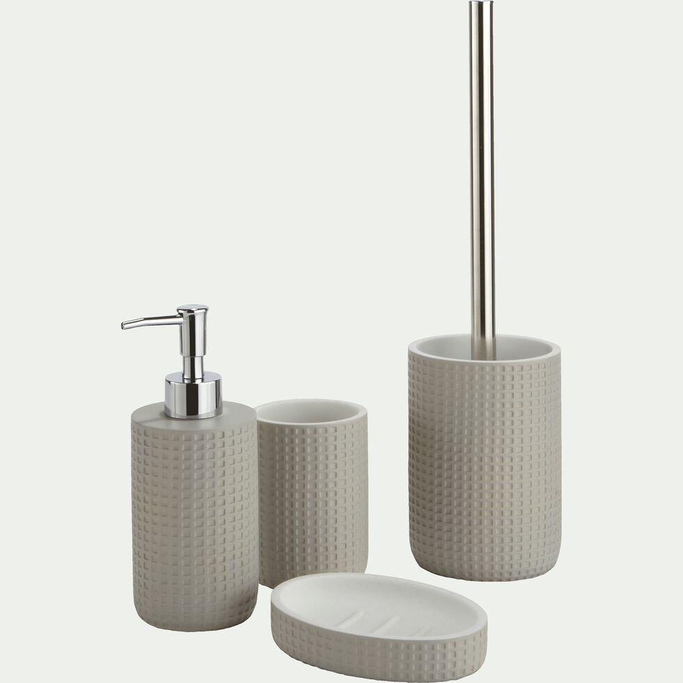 Porte-savon en polyrésine - gris borie L12,7cm-LOUBET