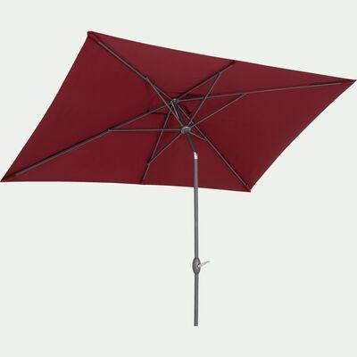 Parasol avec mat inclinable et manivelle 2x3m rouge sumac-MUY