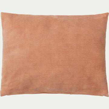 Coussin rectangle en velours côtelé 30x40cm - rose-Colombine