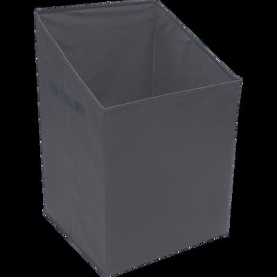 Panier à linge gris 40x40xh65cm-IVY