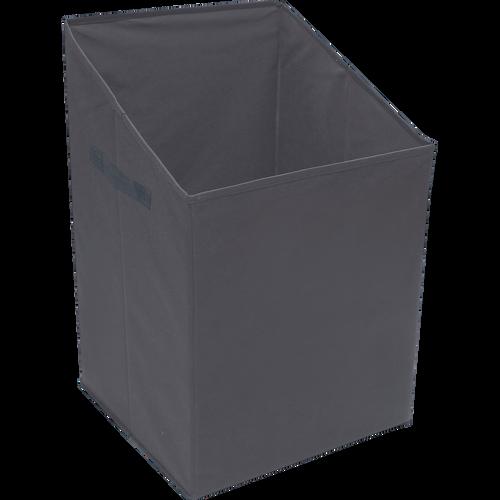 panier linge gris anthracite avec couvercle ivy paniers d co alinea. Black Bedroom Furniture Sets. Home Design Ideas