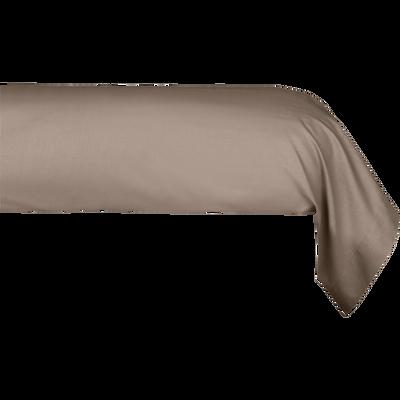 Taie de traversin en coton Brun châtaignier 43x190cm-CALANQUES