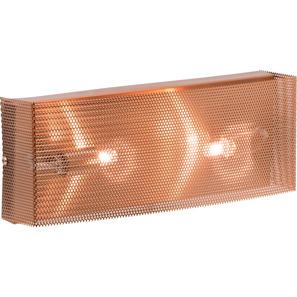Applique en laiton brossé à 2 lumières L30cm-MESHEL