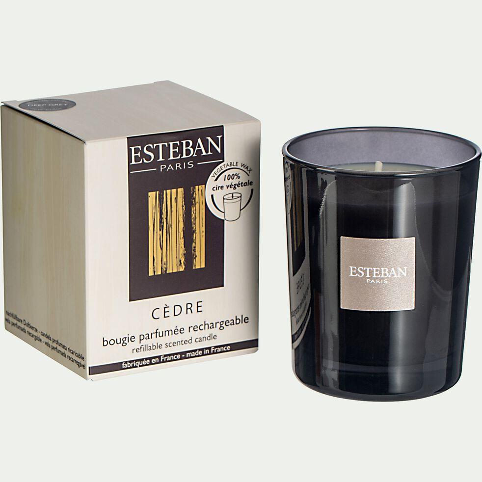 Bougie parfumée Cèdre rechargeable - 170g-ESTEBAN