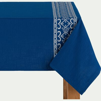 Nappe en coton - bleu 170x250cm-BOLSA