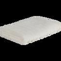Serviette en viscose et coton 50x100cm blanc ventoux-AUBIN