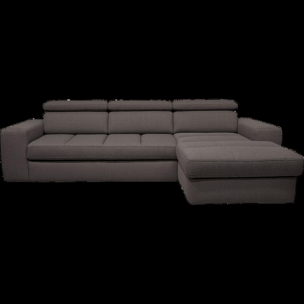 canap d 39 angle droit convertible en tissu anthracite tonin canap s d 39 angle en tissu alinea. Black Bedroom Furniture Sets. Home Design Ideas