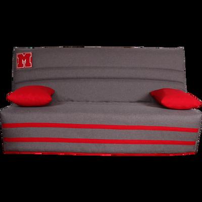 Housse pour clic-clac 130cm gris clair avec poche de rangement latérale-TED