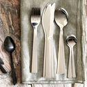 Ménagère 16 pièces en inox - gris brillant-LETO