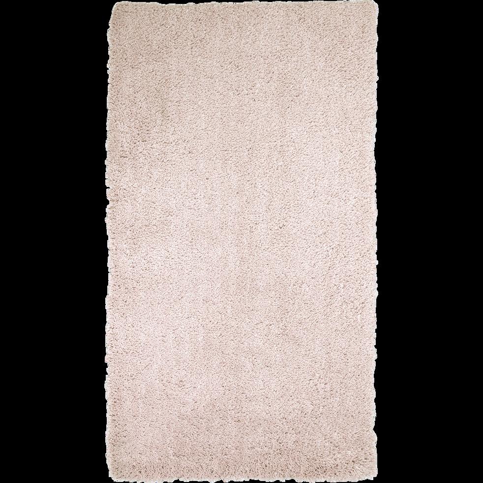 Descente de lit shaggy rose argile 60x110cm-CELAN