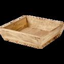 Plateau carré en bois à bords hauts-MANGUA