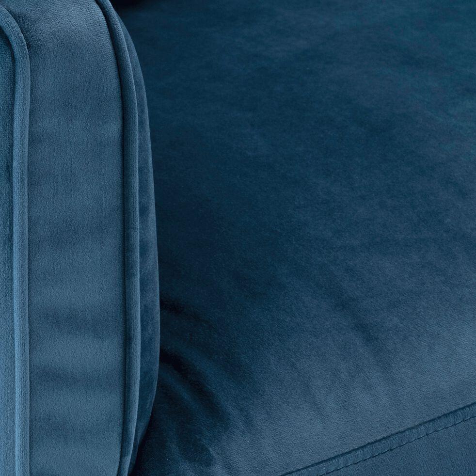 Fauteuil en velours - bleu figuerolles-LENITA