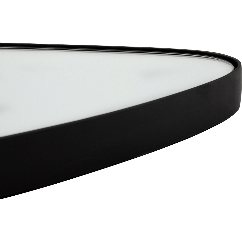 Miroir triangulaire noir (plusieurs coloris et tailles)-TRELUS