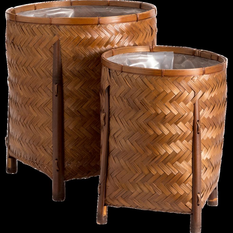 Cache-pot en bambou H37xD30cm-CORFU