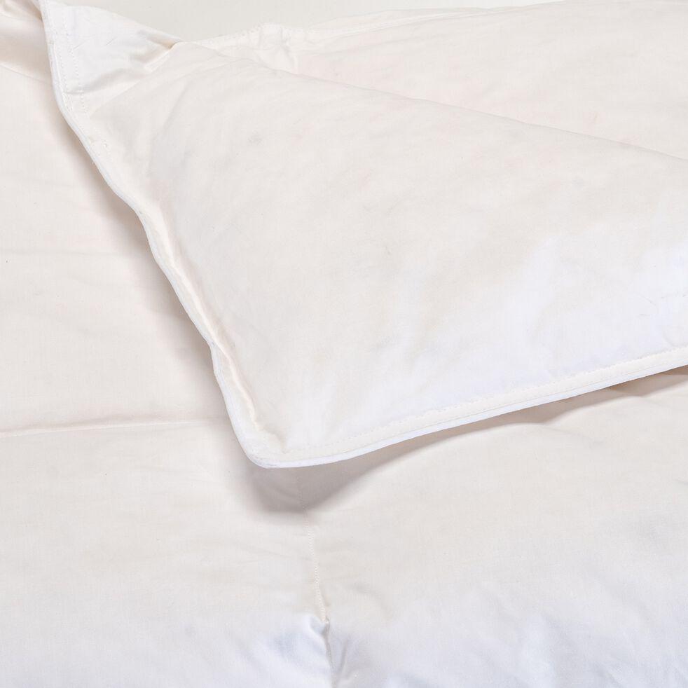 Couette tempérée en percale de coton et duvet de canard - blanc 260x240cm-MAZARRON