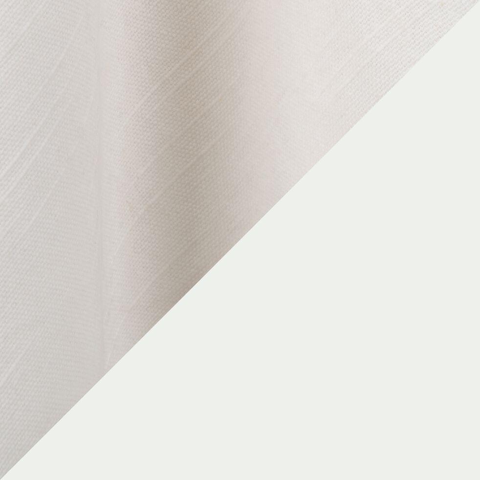 Torchon en coton blanc et noir 50x70cm-GALLIA