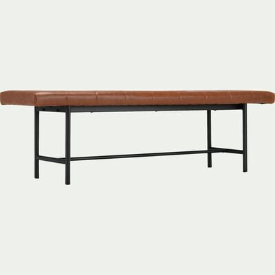 Banc en simili marron - L160cm-MANOLO