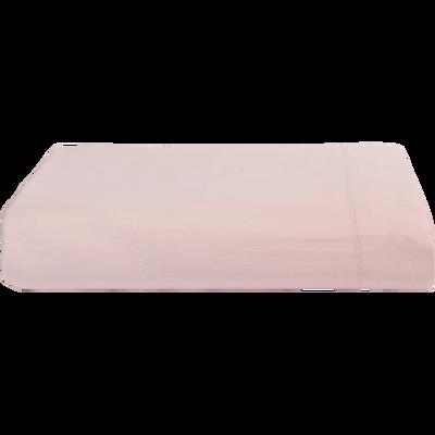 Drap plat en satin Rose grège - 270x300 cm-SANTIS