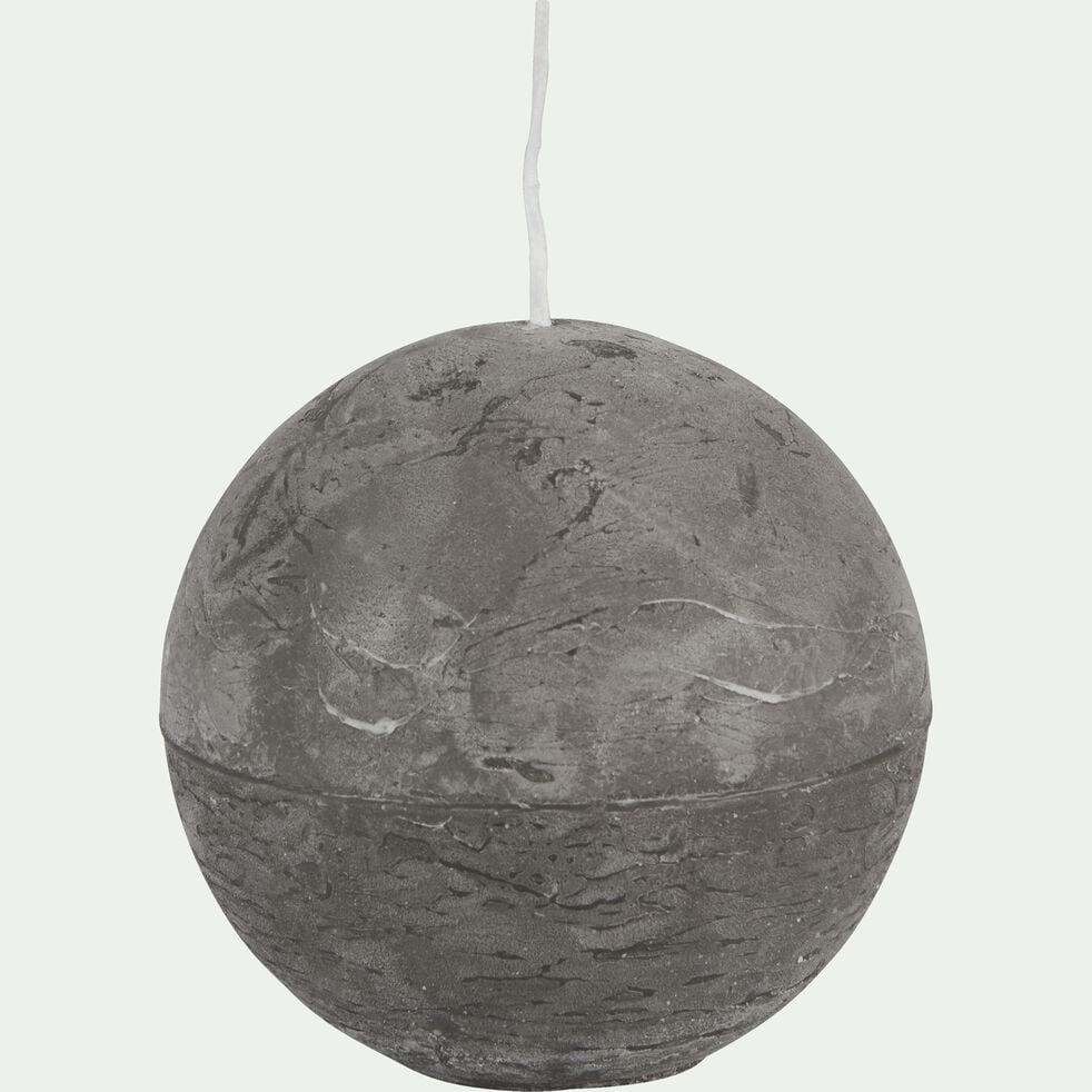 Bougie ronde - gris restanque D8cm-BEJAIA