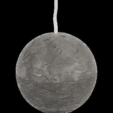 Bougie ronde gris restanque D8cm-BEJAIA