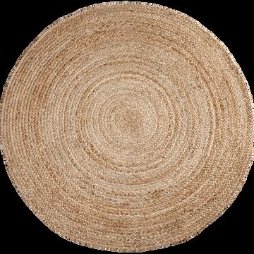 Tapis rond en jute D90cm-RUSH