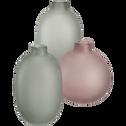 Vase en verre rose H13,5 cm-PISTIL