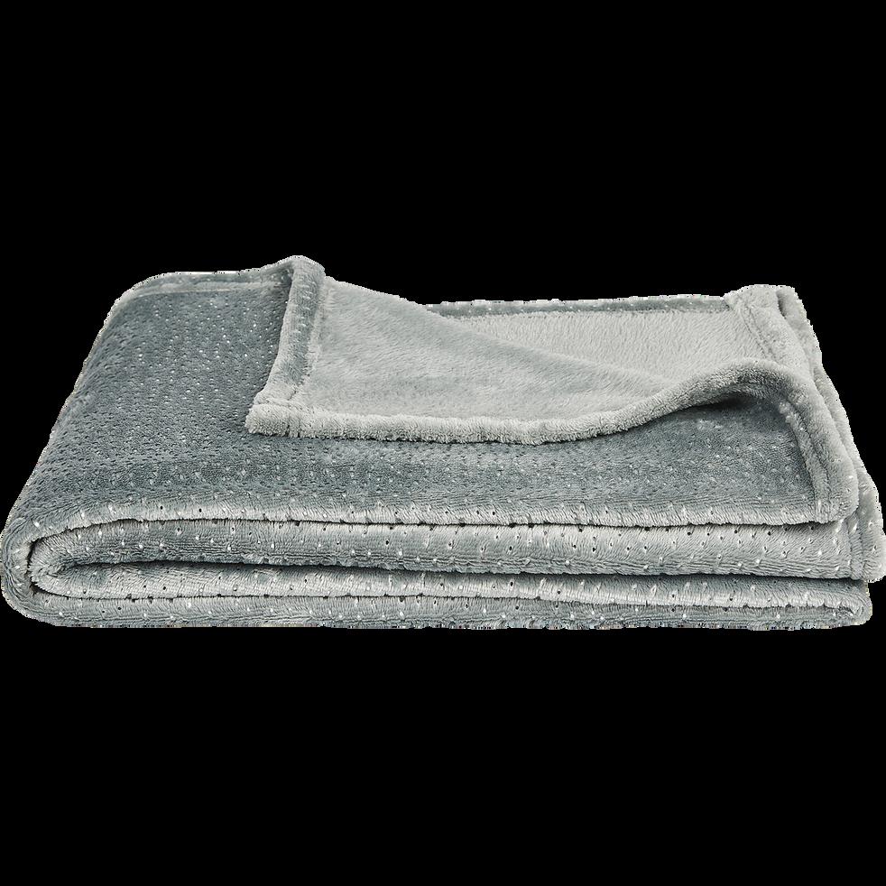 Plaid en fausse fourrure gris 130x170cm-QUANG