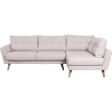 Canapé d'angle fixe droit en tissu nougat-ICONE