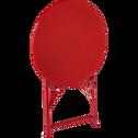 Table de jardin pliante rouge D60cm (2 places)-PIMS