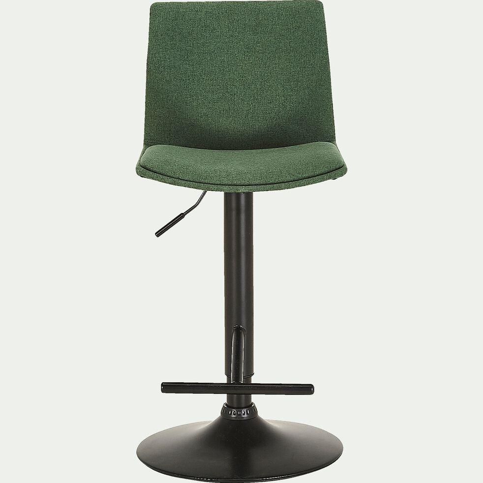 Chaise de bar ajustable en tissu - vert cèdre H60 à 81cm-THORONET