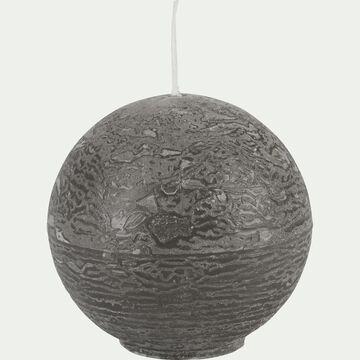 Bougie ronde gris restanque D6cm-BEJAIA