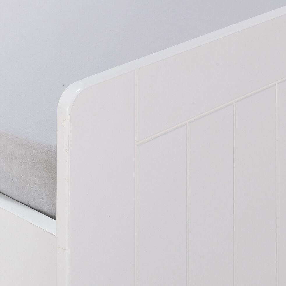 Lit banquette 1 place - blanc 90x200cm-POLLUX