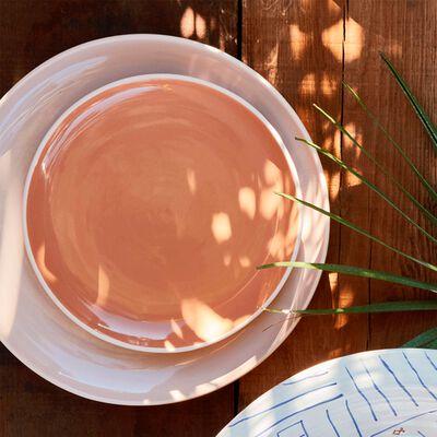 Gamme de vaisselle en faïence bicolore-CANOPE