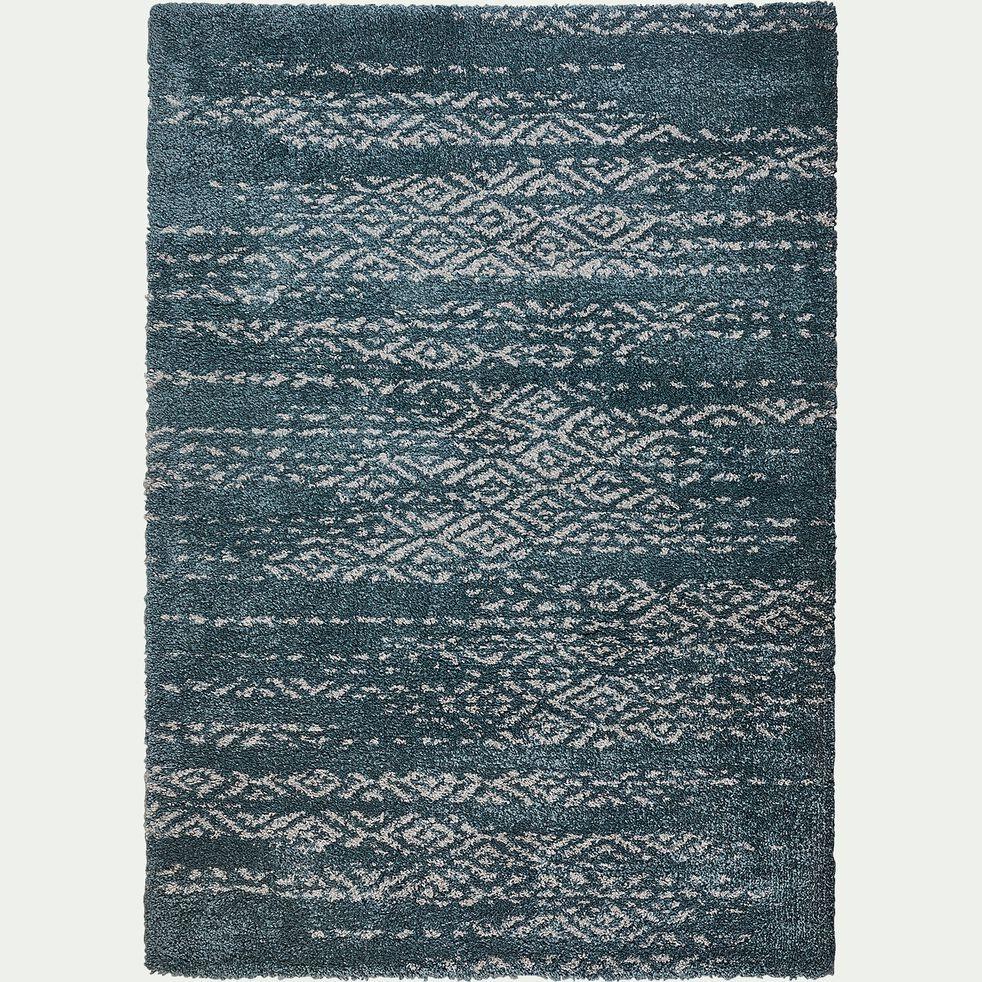 Tapis à motif effet élimé - bleu 160x230cm-Malone