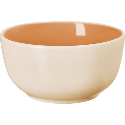 Coupelle bicolore en faïence orange D14cm-CANOPE