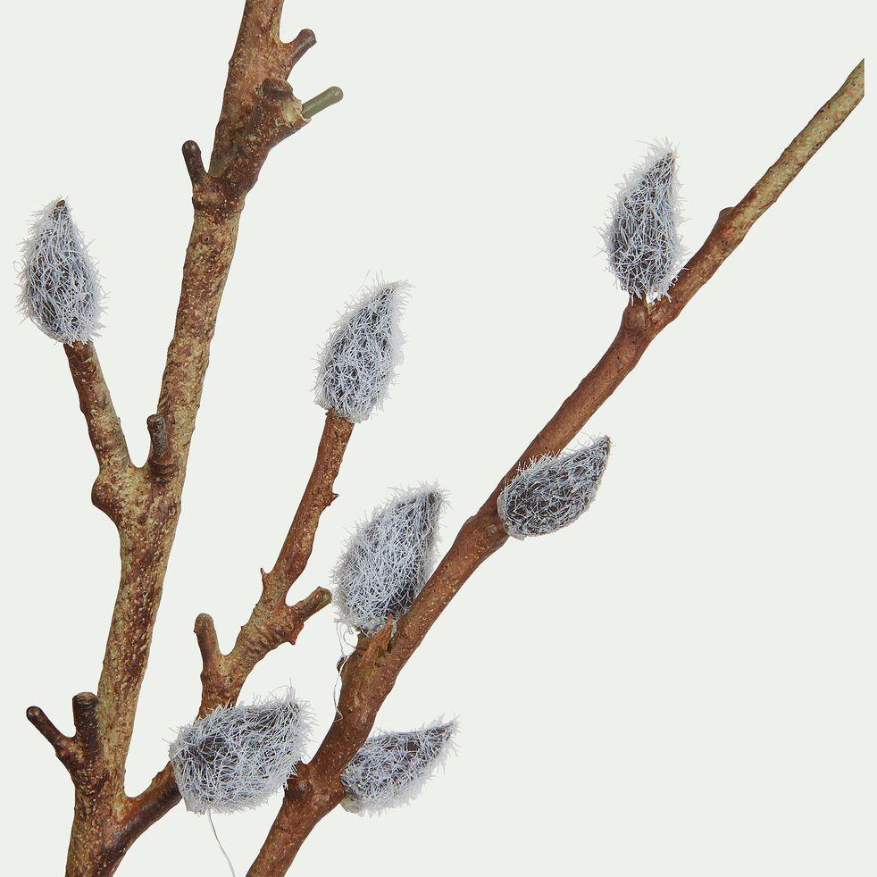 Branchage artificiel de saule à bourgeons - blanc H107cm-PUSS