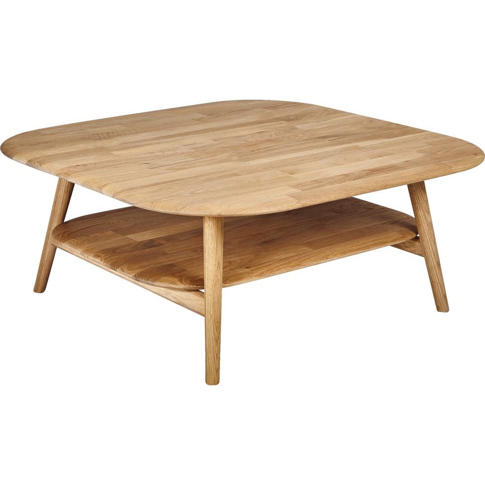 table basse carr e en ch ne massif pampa mobilier alinea. Black Bedroom Furniture Sets. Home Design Ideas