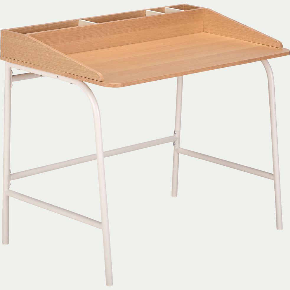 Bureau enfant en bois - naturel-CARLOTA