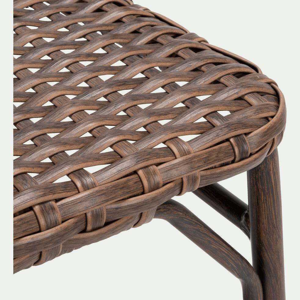 Chaise de jardin en aluminium avec accoudoirs brun-BOLZANO