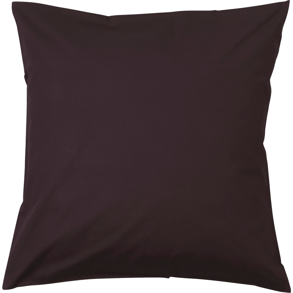 Taie d'oreiller carrée brun chocolat-Vitamine