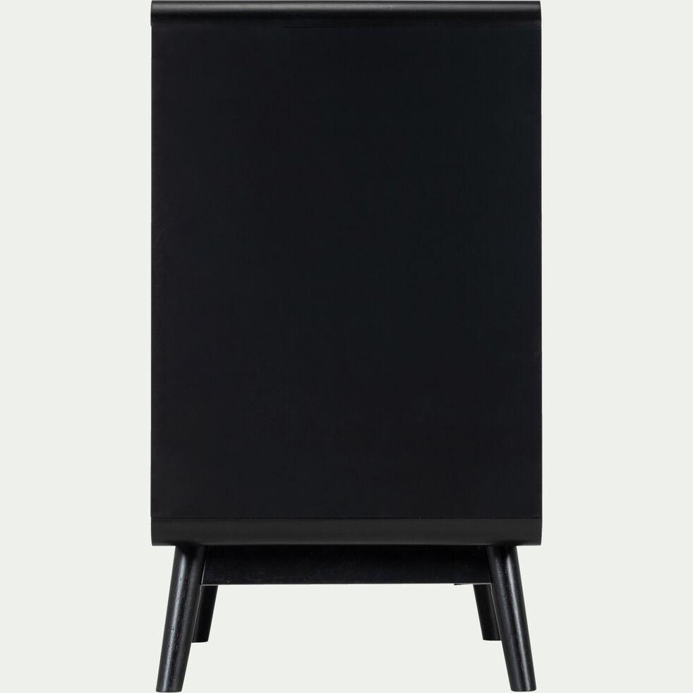 Buffet rétro noir 1 porte et 3 tiroirs-AUBUN