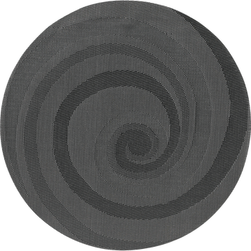 Set de table rond gris anthracite D38cm-Spiral