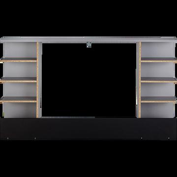 Tête de lit effet bois gris de 140cm-CASTEL