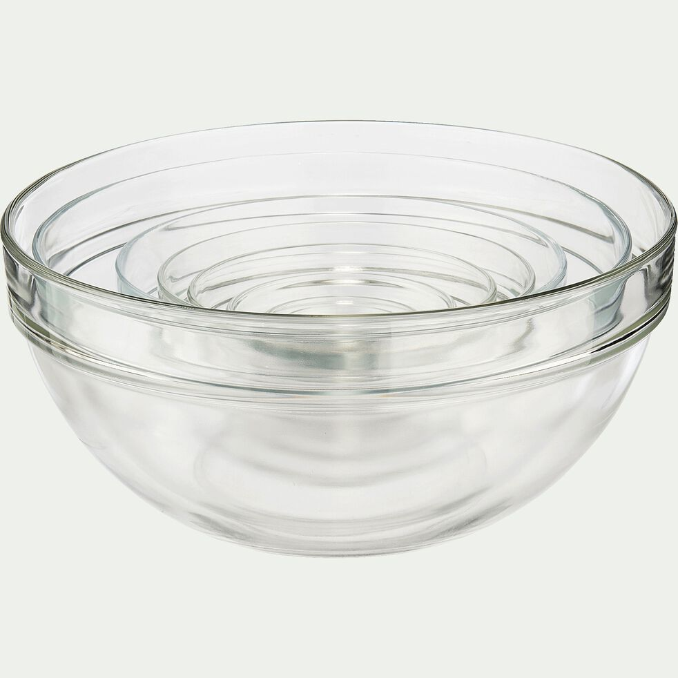 Saladier en verre transparent D6cm-VELLY