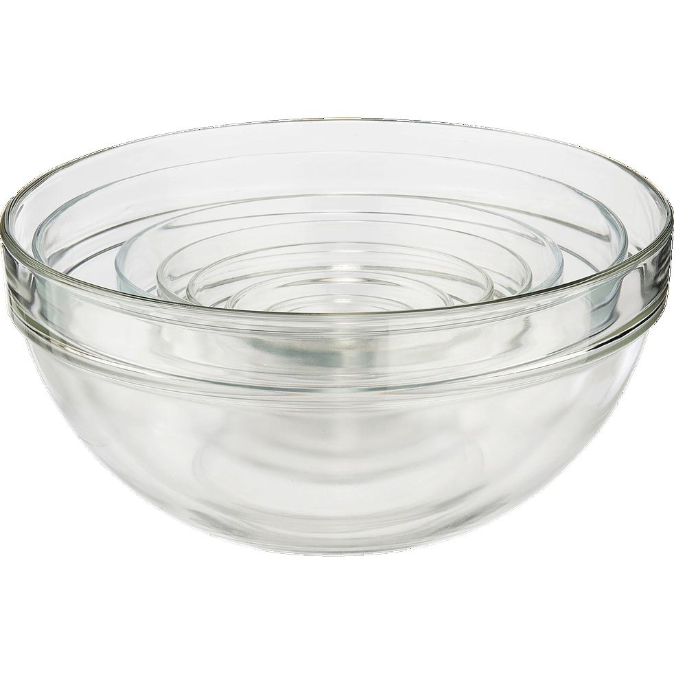Saladier en verre transparent D6cm-VELLY