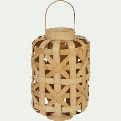 Lanterne tressée en bambou - naturel H32cm-BADA