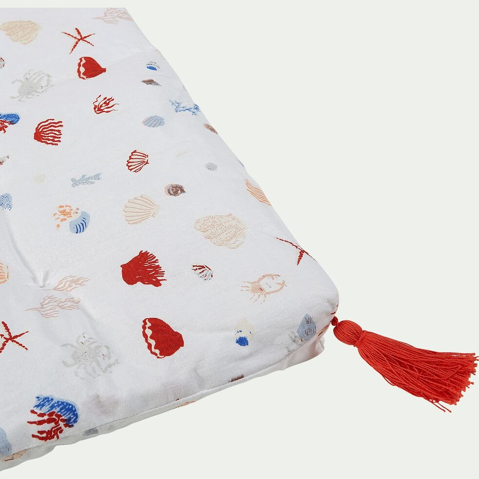 Coussin de banc en coton 33x94cm - multicolore-Tresor