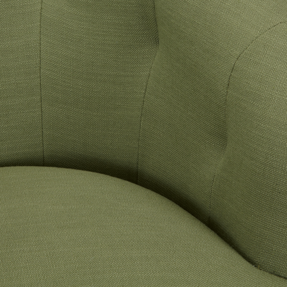 Fauteuil en tissu vert garrigue-MARCELLIN