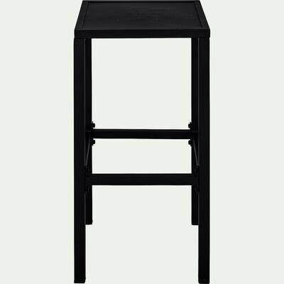 Tabouret de bar en acier - noir H74cm-Cahors