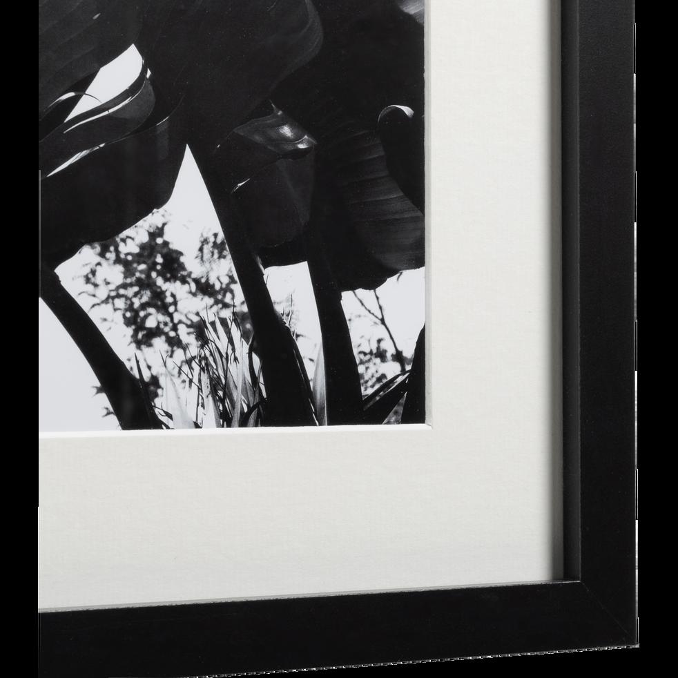 Image encadrée noir et blanc 40x50cm-MUSA